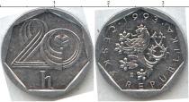 Продать Монеты Чехословакия 20 хеллеров 1993 Алюминий