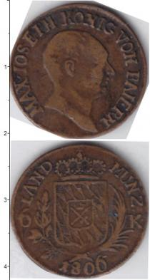 Каталог монет - монета  Бавария 6 крейцеров