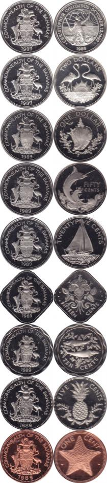Каталог - подарочный набор  Багамские острова Выпуск 1989 года