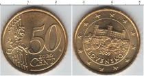 Каталог монет - монета  Словакия 50 евроцентов