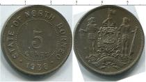Каталог монет - монета  Борнео 5 центов