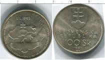 Каталог монет - монета  Словения 100 крон