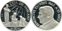 Продать Подарочные монеты Ватикан 43-я годовщина празднования Дня Мира 2010 Серебро