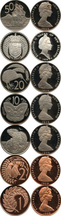 Каталог - подарочный набор  Новая Зеландия Выпуск монет 1979 года