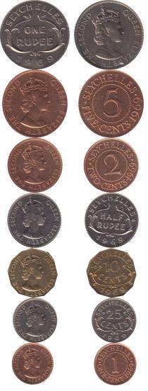 Каталог - подарочный набор  Сейшелы Набор монет 1969 года