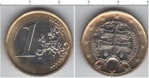Каталог монет - монета  Словакия 1 евро