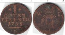 Каталог монет - монета  Шлезвиг-Хольштайн 1 пфенниг