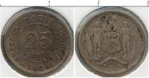 Каталог монет - монета  Борнео 25 центов