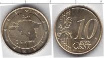 Каталог монет - монета  Эстония 10 евроцентов