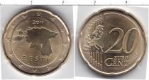 Каталог монет - монета  Эстония 20 евроцентов