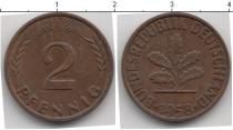 Каталог монет - монета  ФРГ 2 пфеннига