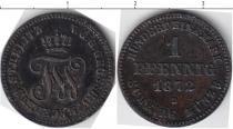 Каталог монет - монета  Мекленбург-Стрелитц 1 пфенниг