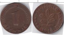 Каталог монет - монета  ФРГ 1 пфенниг