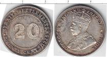 Каталог монет - монета  Стрейтс-Сеттльмент 20 центов