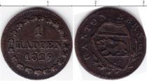 Каталог монет - монета  Берн 1 рапп