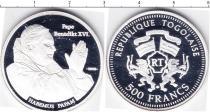 Продать Монеты Того 500 франков 2005 Серебро