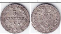 Каталог монет - монета  Нассау 3 крейцера