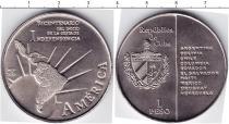 Продать Монеты Куба 1 песо 2011 Медно-никель