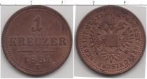 Каталог монет - монета  Австро-Венгрия 1 крейцер
