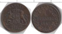Каталог монет - монета  Нассау 1 пфенниг