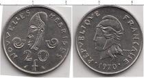 Каталог монет - монета  Новые Гебриды 20 франков