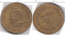 Каталог монет - монета  Новые Гебриды 5 франков