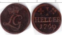 Каталог монет - монета  Шварцбург-Рудольфштадт 1 геллер