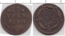 Каталог монет - монета  Липпе-Детмольд 1 1/2 пфеннига