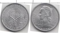 Каталог монет - монета  Территория афаров и исса 1 франк