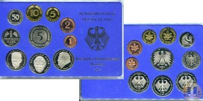 Каталог - подарочный набор  ФРГ Монеты 1990 (чеканка Мюнхена)