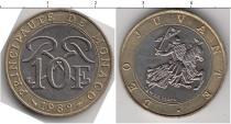 Продать Монеты Монако 10 франков 1989 Биметалл