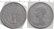 Каталог монет - монета  КФА 2 франка