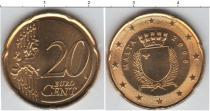 Продать Монеты Мальта 20 евроцентов 2008 Латунь