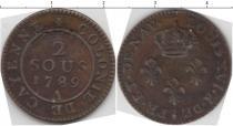 Каталог монет - монета  Франция 2 соль
