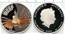 Продать Подарочные монеты Австралия Рыба-лев 2009 Серебро