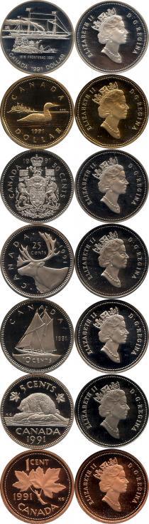 Каталог - подарочный набор  Канада Памятный набор 1991 года