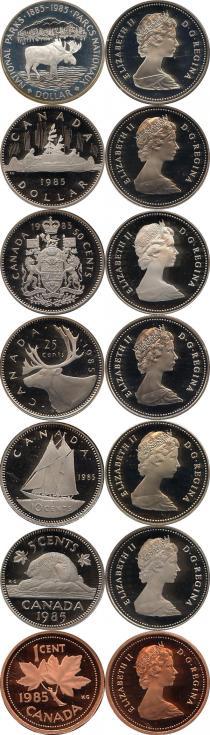 Каталог - подарочный набор  Канада Памятный набор 1985 года