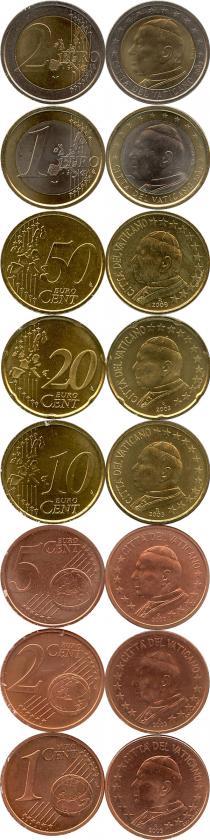 Каталог - подарочный набор  Ватикан Евронабор 2003 года выпуска