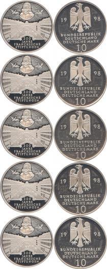 Каталог - подарочный набор  Германия 300-летие основание франка
