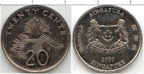 Каталог монет - монета  Сингапур 20 центов