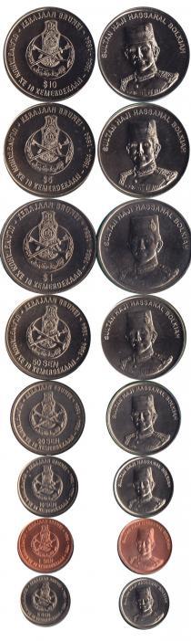 Продать Подарочные монеты Бруней 10-летие независимости Брунея 1994