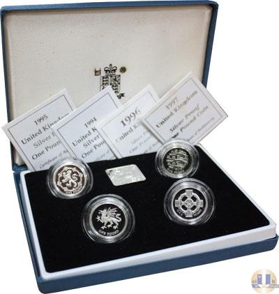 Каталог - подарочный набор  Великобритания Выпуск монет 1994-1997 гг,