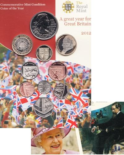 Продать Подарочные монеты Великобритания Новые гербы 2012 2012