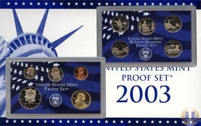 Каталог - подарочный набор  США Пруф-сет 2003 года