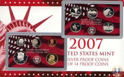 Каталог - подарочный набор  США Пруф-сет 2007 года