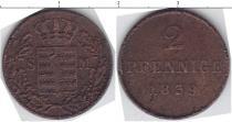 Каталог монет - монета  Саксен-Майнинген 2 пфеннига