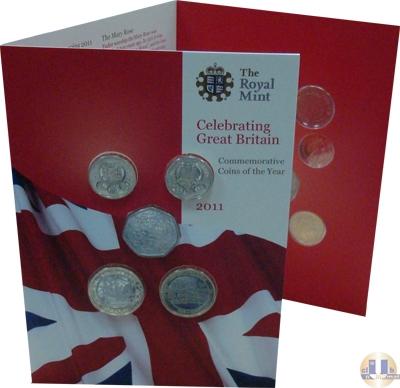 Продать Подарочные монеты Великобритания Новые гербы 2011 2011