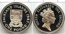 Каталог - подарочный набор  Фолклендские острова Серебряный фунт Питфорт