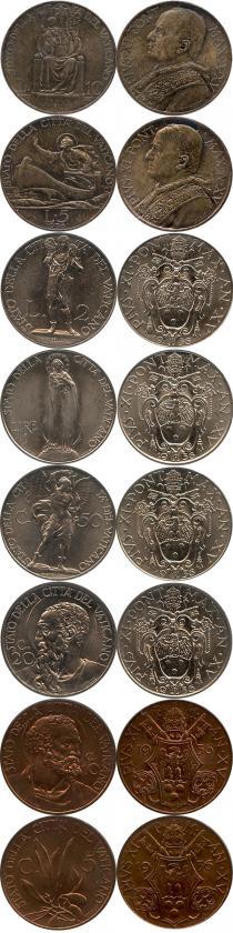 Каталог - подарочный набор  Ватикан Набор монет 1936