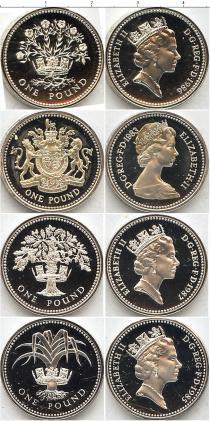 Каталог - подарочный набор  Великобритания Королевский выпуск монет 1984-87 гг,